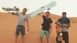 Quand les acteurs de Vikings font du sandboarding dans le sud du