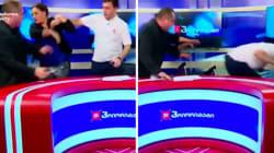 Deux politiciens géorgiens se battent à la