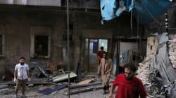 시리아군 미사일이 병원 바로 위로