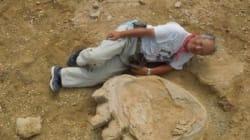 중국에서 거대 공룡의 발자국 화석이