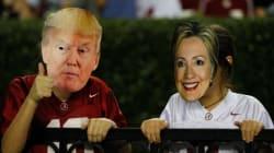 Clinton, Trump et