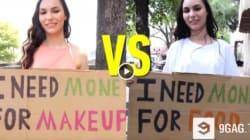 Κοινωνικό πείραμα: Από τη μια η άστεγη που ζητά χρήματα για φαγητό. Από την άλλη αυτή που θέλει να αγοράσει