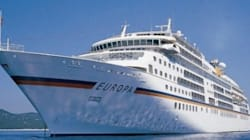 Le bateau de croisière ''Europa'' accoste au port