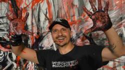 L'artiste peintre italien Virginio réalise une fresque en hommage à la ville de