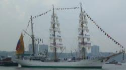 Ce magnifique voilier de la marine colombienne fait escale à