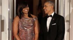 Στο τελευταίο επίσημο δείπνο του Ομπάμα, την παρασταση έκλεψε η Μισέλ (και το χρυσό της