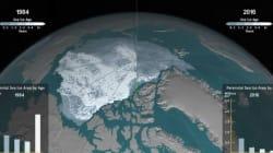 Η δραματική υποχώρηση των πάγων στην Αρκτική μέσα σε 32 χρόνια, σε βίντεο της