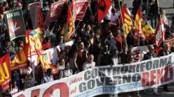Συγκρούσεις διαδηλωτών κατά του Ρέντσι με την αστυνομία στην
