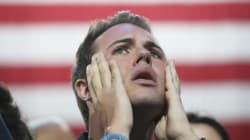 힐러리 클린턴 지지자들은 이런 표정을