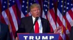 Résultats de l'élection américaine 2016: Les premiers mots de Donald Trump en tant que 45e président des