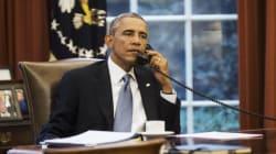 오바마가 트럼프에게 축하 전화를