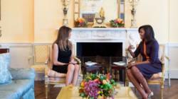 Melania Trump et Michelle Obama ont, elles aussi, fait connaissance à la Maison