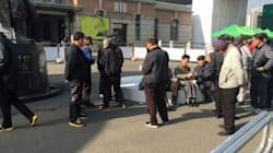 보수단체 맞불집회 현장서 금품 살포