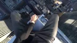 Ό,τι πιο...υψοφοβικό έχετε δει: Άνδρας «κάνει σβούρες» στην άκρη