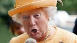Κάποιος έκανε μοντάζ το πρόσωπο του Τραμπ στο σώμα της βασίλισσας Ελισάβετ και το αποτέλεσμα