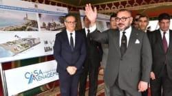 A Casablanca, le roi lance les travaux de la promenade maritime de la mosquée Hassan