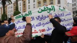 Des ex-policiers manifestent à Rabat