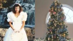 낡은 웨딩드레스를 크리스마스에 재활용하는