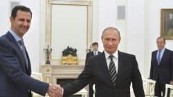Poutine félicite Assad pour la libération