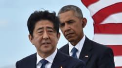 오바마와 아베가 진주만 추모 헌화를