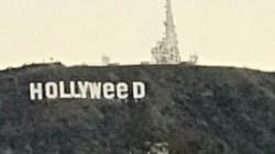 Les célèbres lettres de Hollywood mystérieusement transformées en Hollyweed pendant le