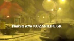 Όταν η...Σιβηρία έφτασε στην Κοζάνη: Απίστευτες εικόνες χιονιά και ανέμων το βράδυ της