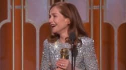 Isabelle Huppert sacrée aux Golden Globes avec