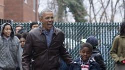 오바마가 퇴임 3일을 앞두고 동네 아이들에게 선물을
