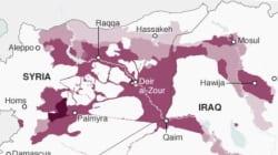 Cartographie: Daech a perdu près d'un quart de son territoire en