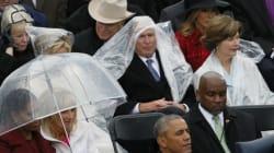 미국 대통령 취임식에서 깜찍한 싸움이