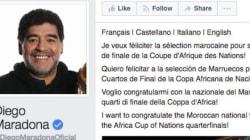 CAN 2017: Diego Maradona félicite les Lions de