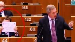 Au Parlement européen, le leader de l'extrême droite britannique se fait troller à la