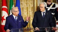 Béji Caïd Essebsi souligne, à Rome, l'importance du rôle de l'Italie dans la résolution de la crise