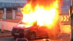 Un camion de RTL brûlé en France en marge de la manif contre les violences