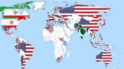 Χάρτης που δείχνει ποιο κράτος θεωρούν όλες οι χώρες απειλή για την παγκόσμια