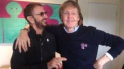 Les deux ex-Beatles Ringo Starr et Paul McCartney réunis en