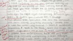 여자친구의 이별 편지를 통쾌하게 '성적' 매긴 한 학생 때문에 인터넷이 빵