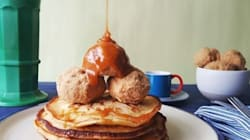 Cheat 'Deep Fried' Ice Cream With Pancakes And A Caramel