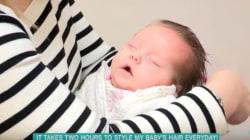이 아기는 매일 머리 하는 데만 2시간이