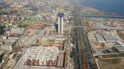 Les gros oeuvres du minaret de la Grande mosquée d'Alger