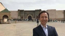 Stéphane Bern en tournage à Meknès pour l'émission Secrets