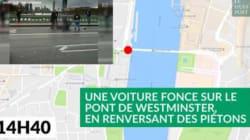 Attentat de Londres devant le Parlement: le déroulé en images de
