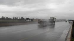 29 accidents de la route en 24 heures à cause de la pluie à