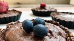 Υγιεινά σοκολατένια ταρτάκια με κρέμα από