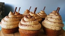 White Chocolate And Coffee Ganache Filled Cappuccino Cupcakes With Espresso Buttercream
