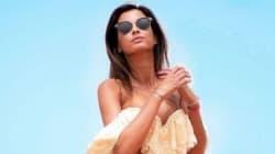 L'ex-Miss France Malika Ménard en vacances à Agadir