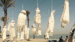 이 웨딩드레스들은 레바논의 강간법과 싸우는