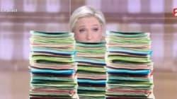 Débat présidentiel : les fiches de Marine Le Pen ne sont pas passées