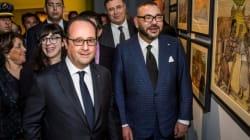 Mohammed VI et François Hollande visitent une expo à