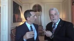 Gad Elmaleh et le premier ministre du Québec boivent de l'eau... et changent d'accent